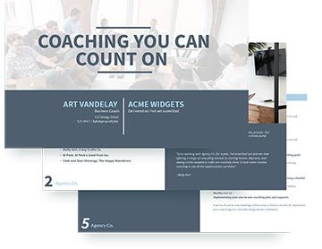 executive coaching proposal software