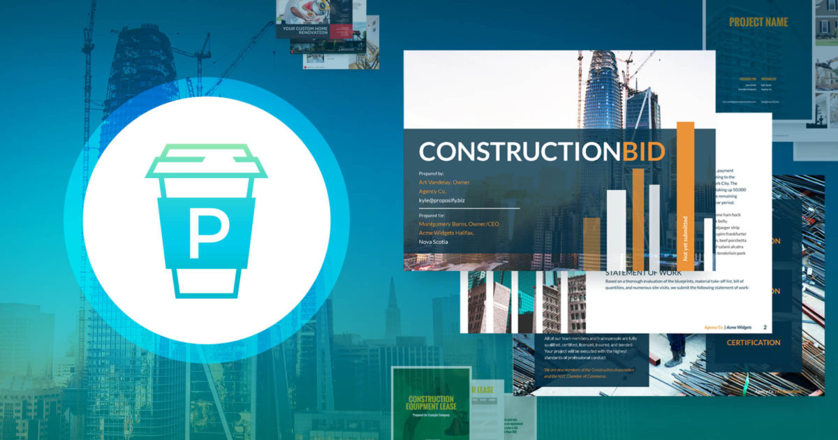 Construction Proposal Software - Proposify Helps Build