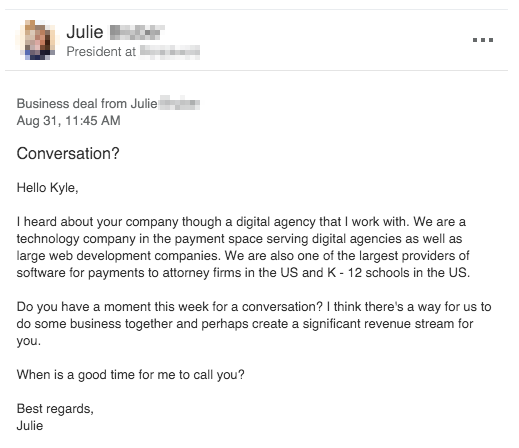 worst prospecting emails example
