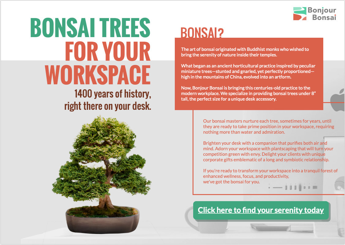 Bonsai trees for your workspace