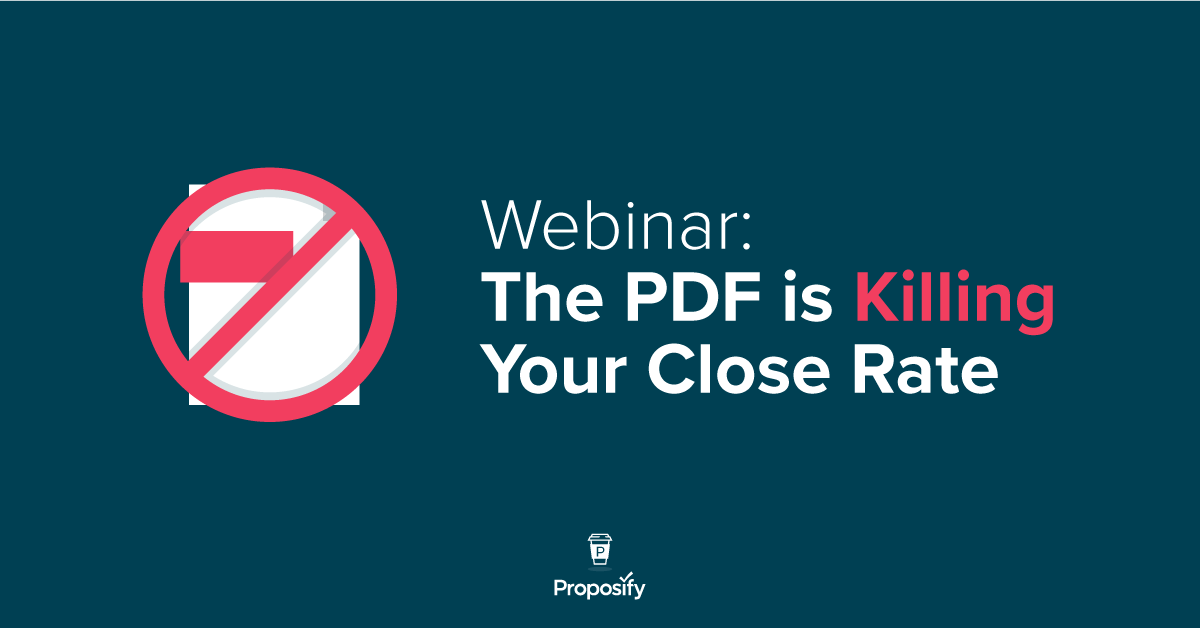 The PDF is Killing Your Close Rate. What are you doing about it?