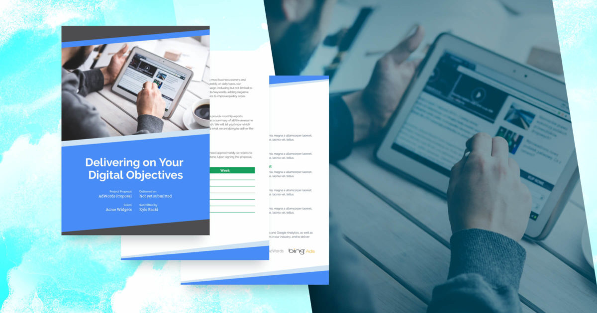 AdWords & PPC Proposal Template - Free Sample | Proposify