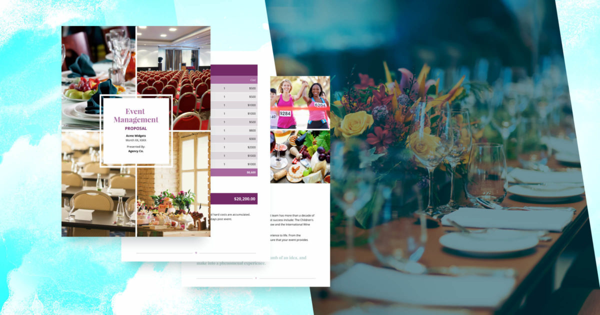 Event Management Proposal Template - Free Sample   Proposify