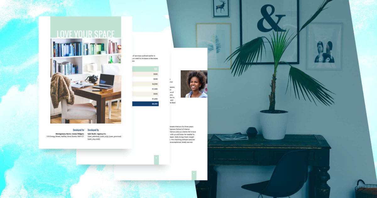 Interior design proposal template free sample proposify - Interior design online free ...