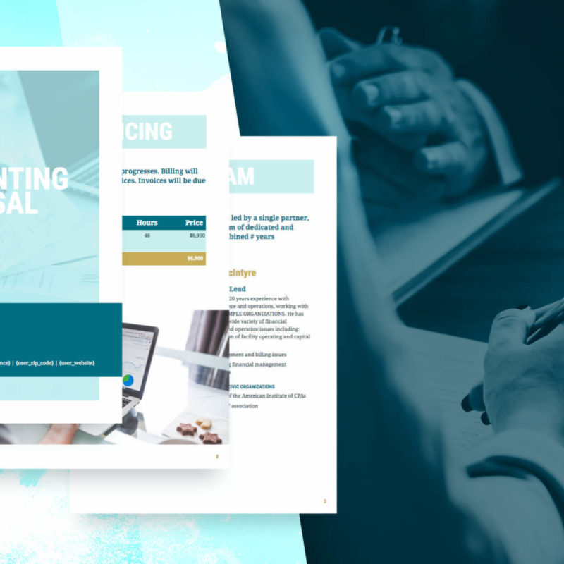 Accounting Proposal Template Free Sample Proposify