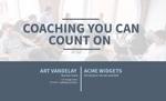 Executive Coaching Proposal Template