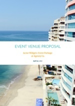 Hotel Event Venue Proposal Template
