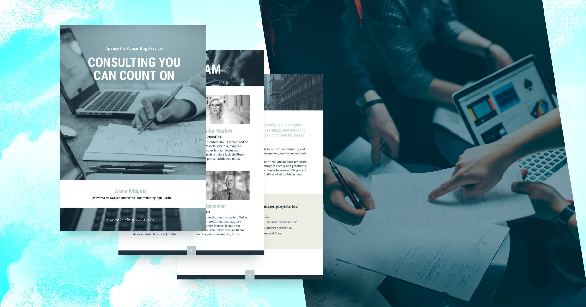 Consulting proposal template free sample wajeb
