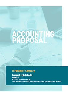 Free business proposal templates proposify accounting proposal template wajeb Images