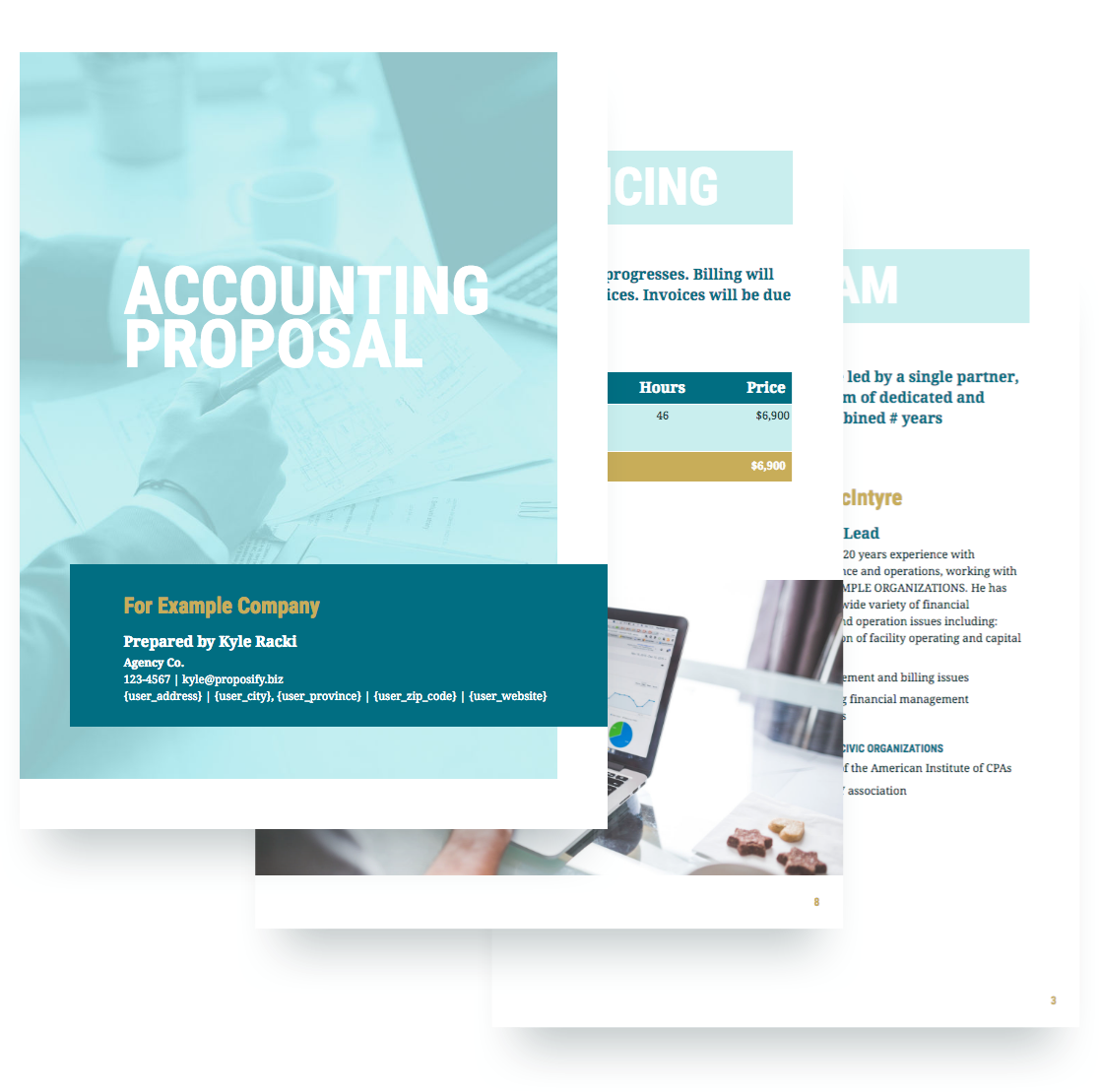 Accounting proposal template free sample accounting proposal template maxwellsz
