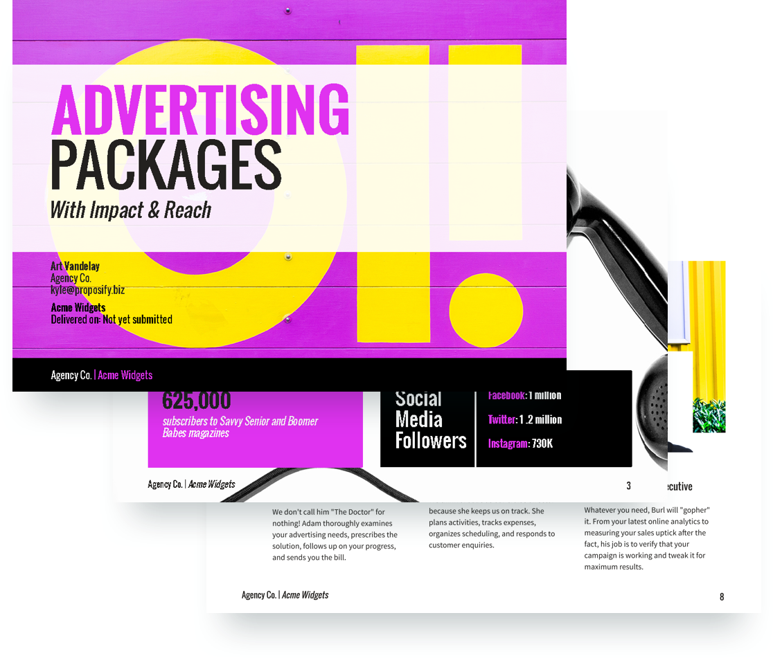 Advertising Proposal Template Free Sample Proposify