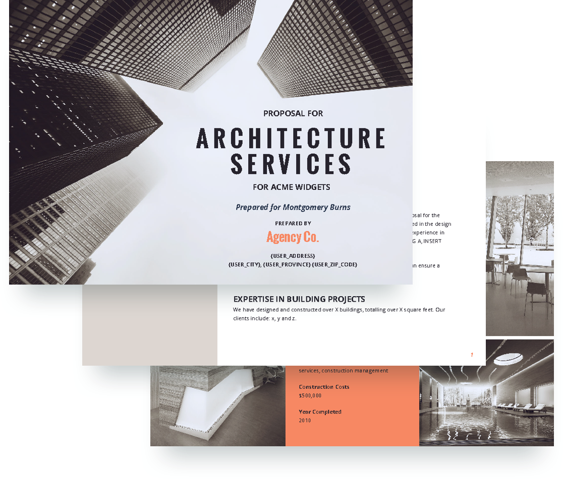 architecture proposal template free sample proposify