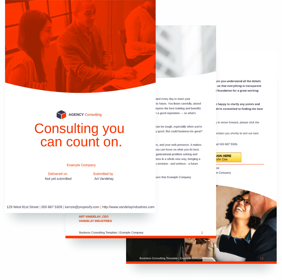 Business Consulting Proposal Template