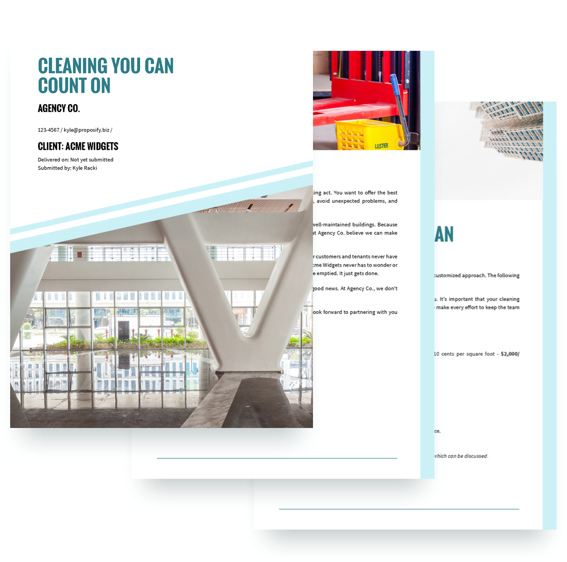for a great example of an introduction letter check out this cleaning services proposal template created by proposify