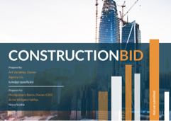 Construction Bid Template