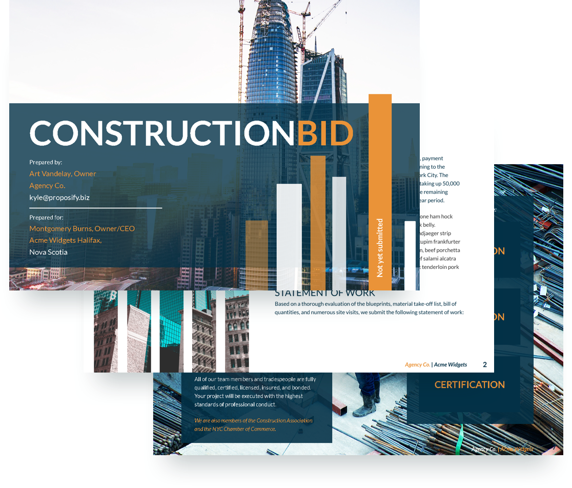 Construction Proposal Software Proposify Helps Build Proposify