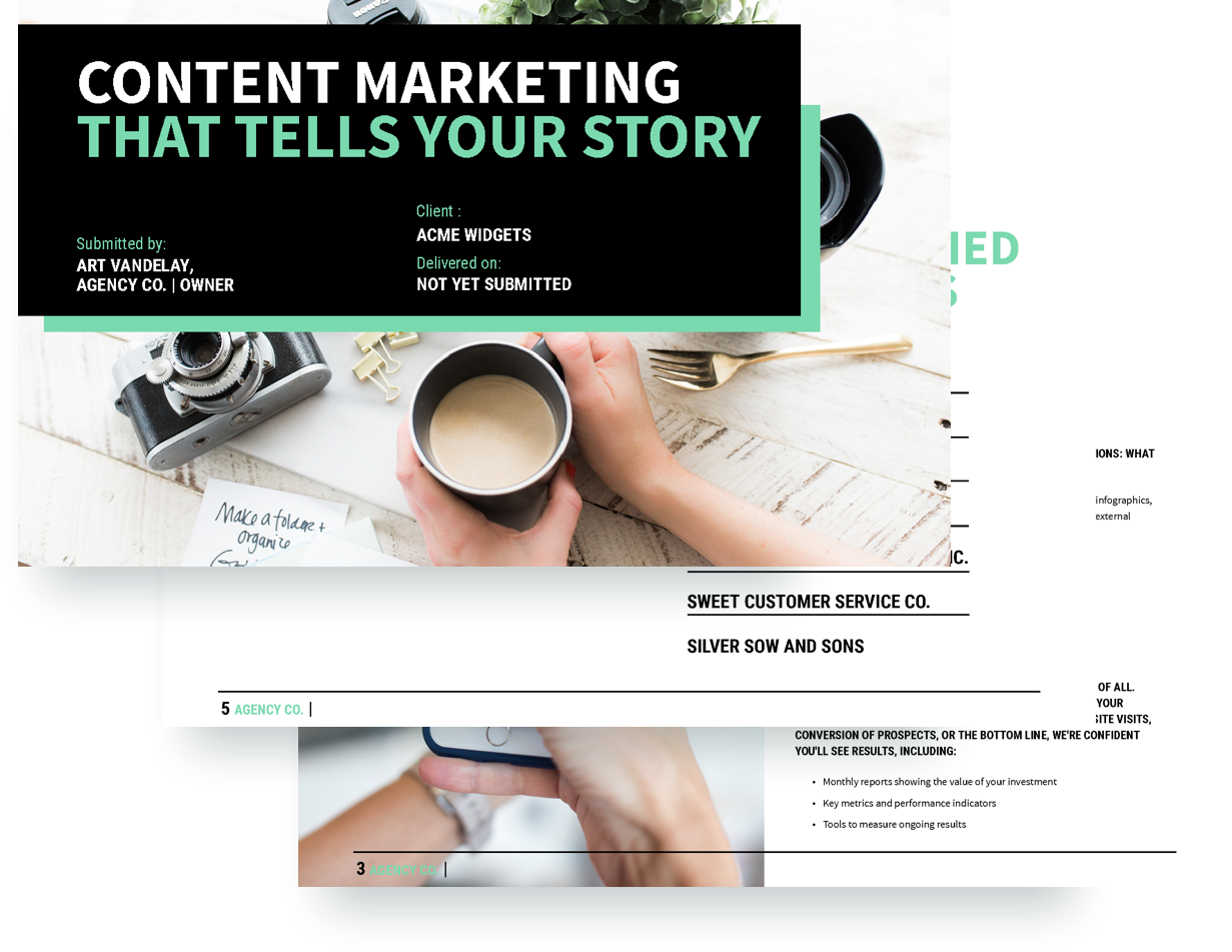 Content Marketing Proposal Template Free Sample Proposify