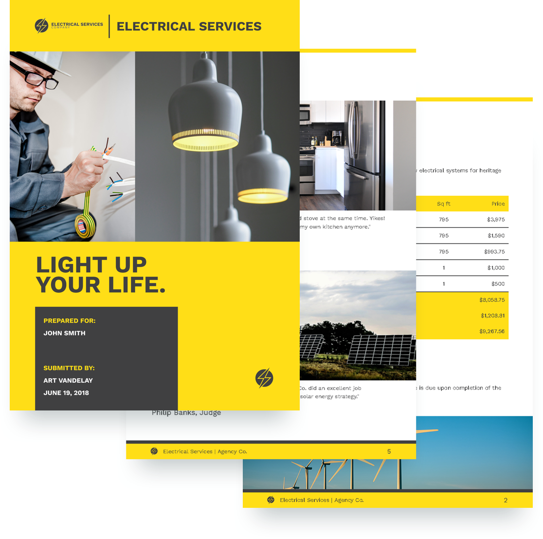 Electrical Services Proposal Template