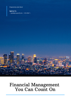 Financial Services Proposal Template
