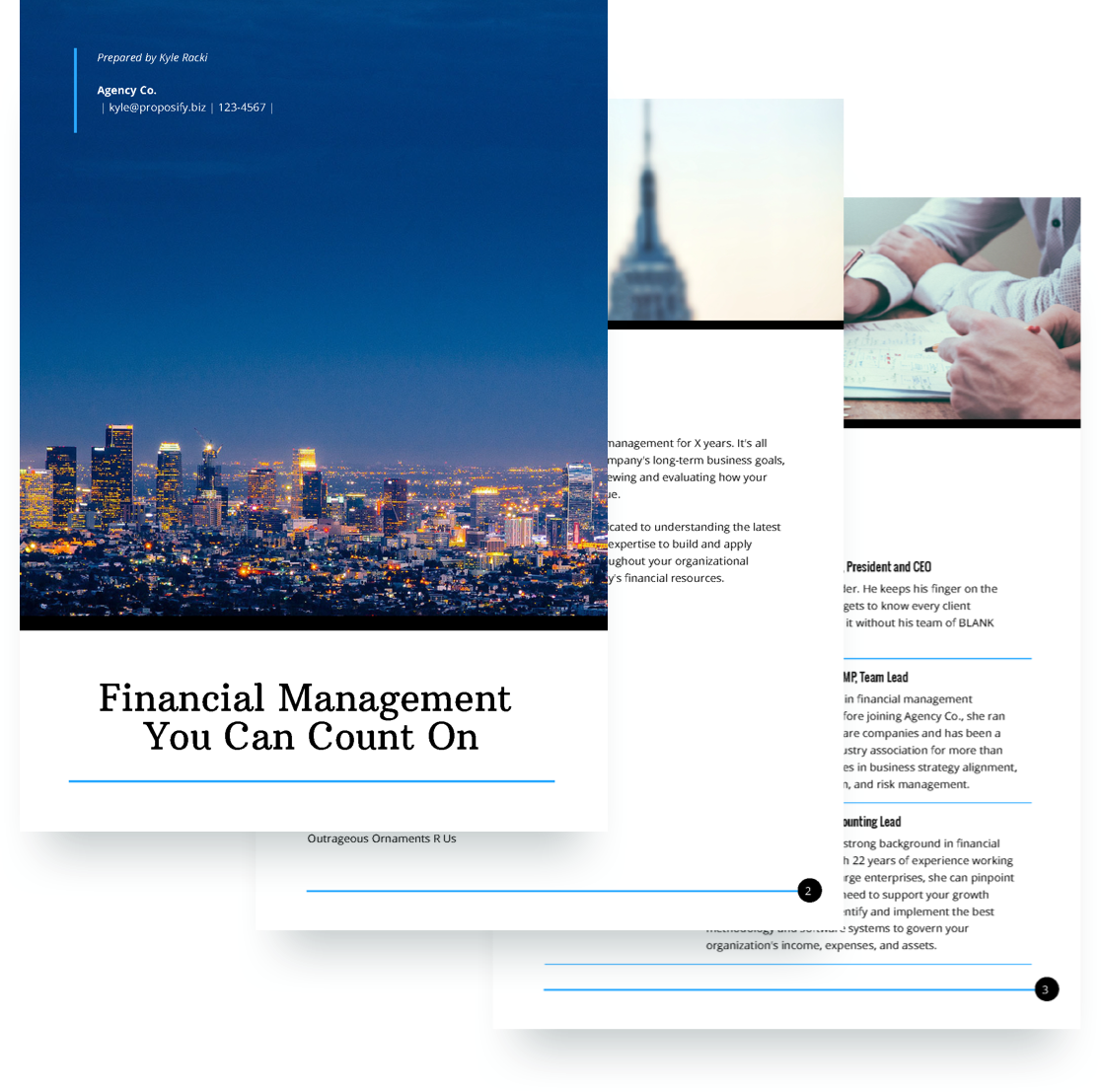 Financial Services Proposal Template Free Sample Proposify