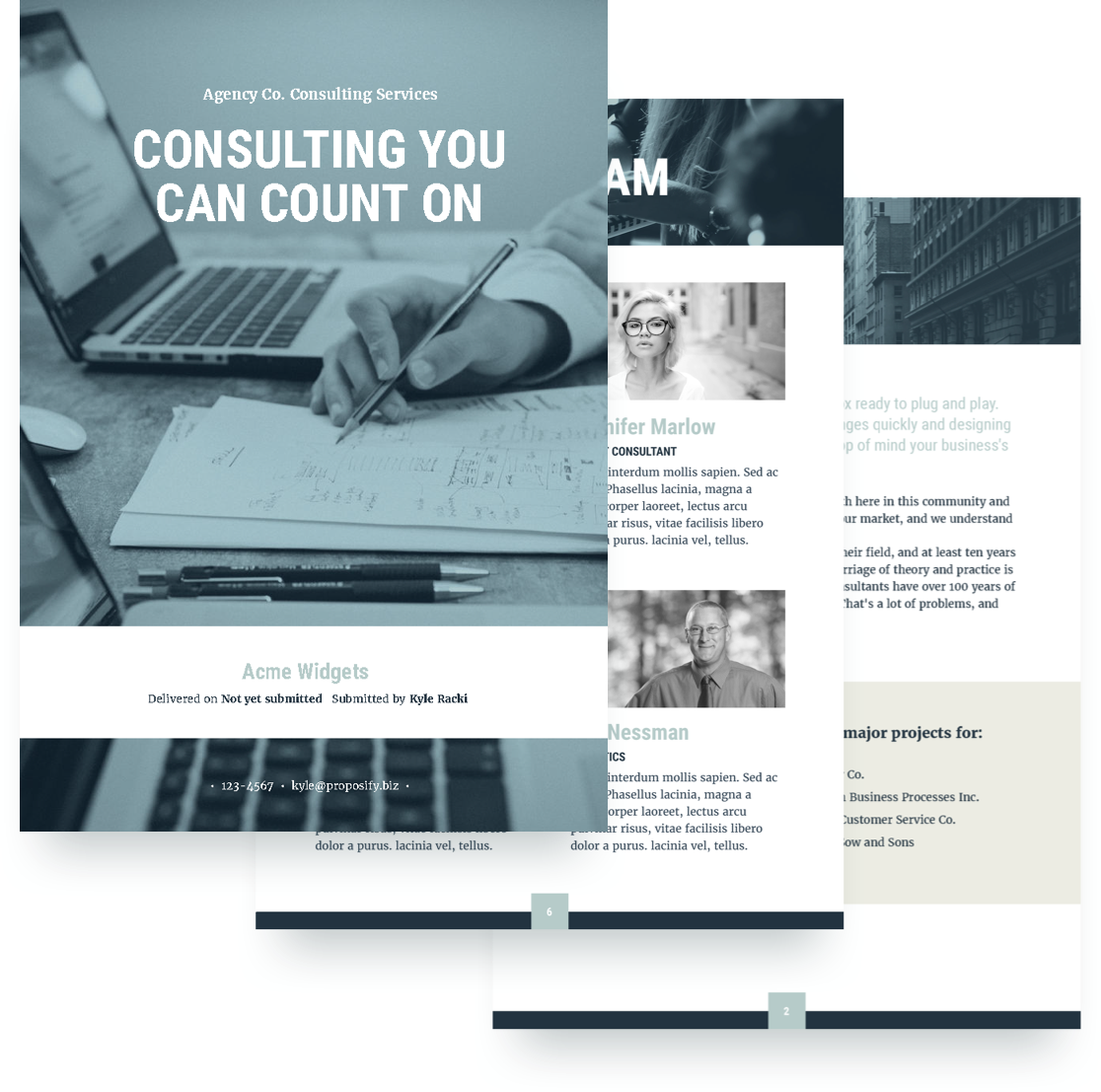 Consulting proposal template free sample proposify for Design consultancy