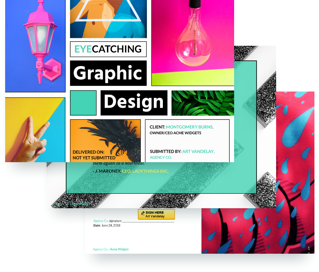graphic design proposal template proposify