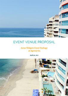 Hotel Event Venue Proposal Template