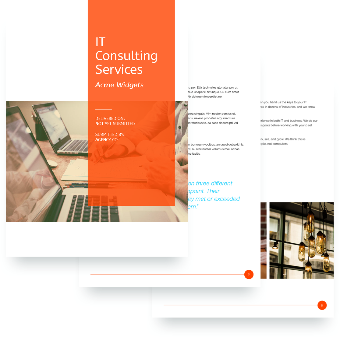 It services proposal template free sample proposify it services proposal template wajeb Image collections