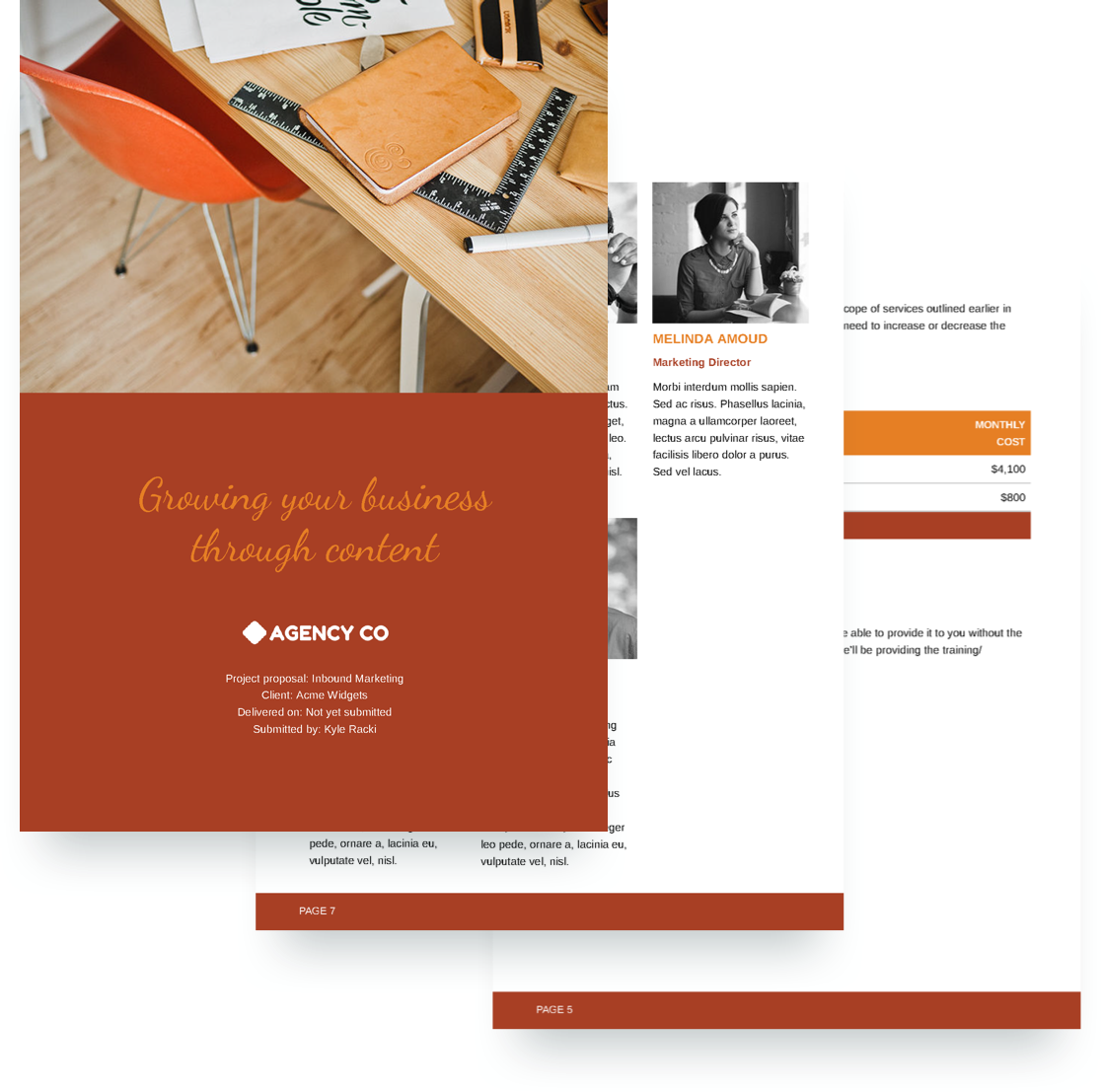 Inbound Marketing Proposal Template - Free Sample