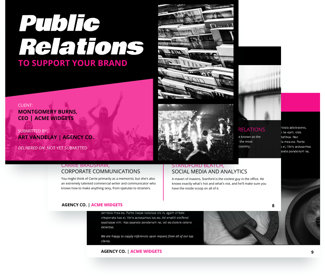 public relations proposal template free sample proposify