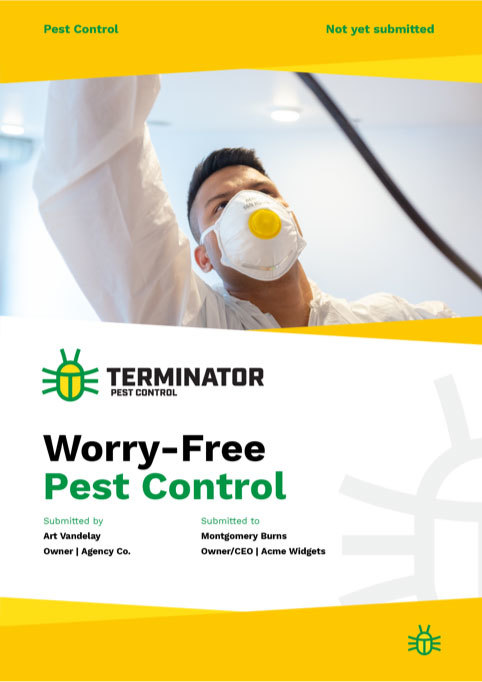 pitch template pest control proposal template