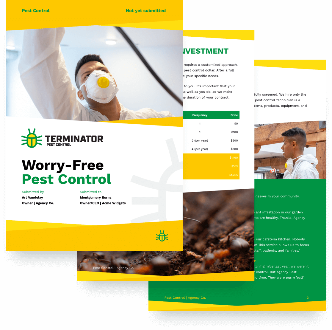 Pest Control Proposal Template | Proposify
