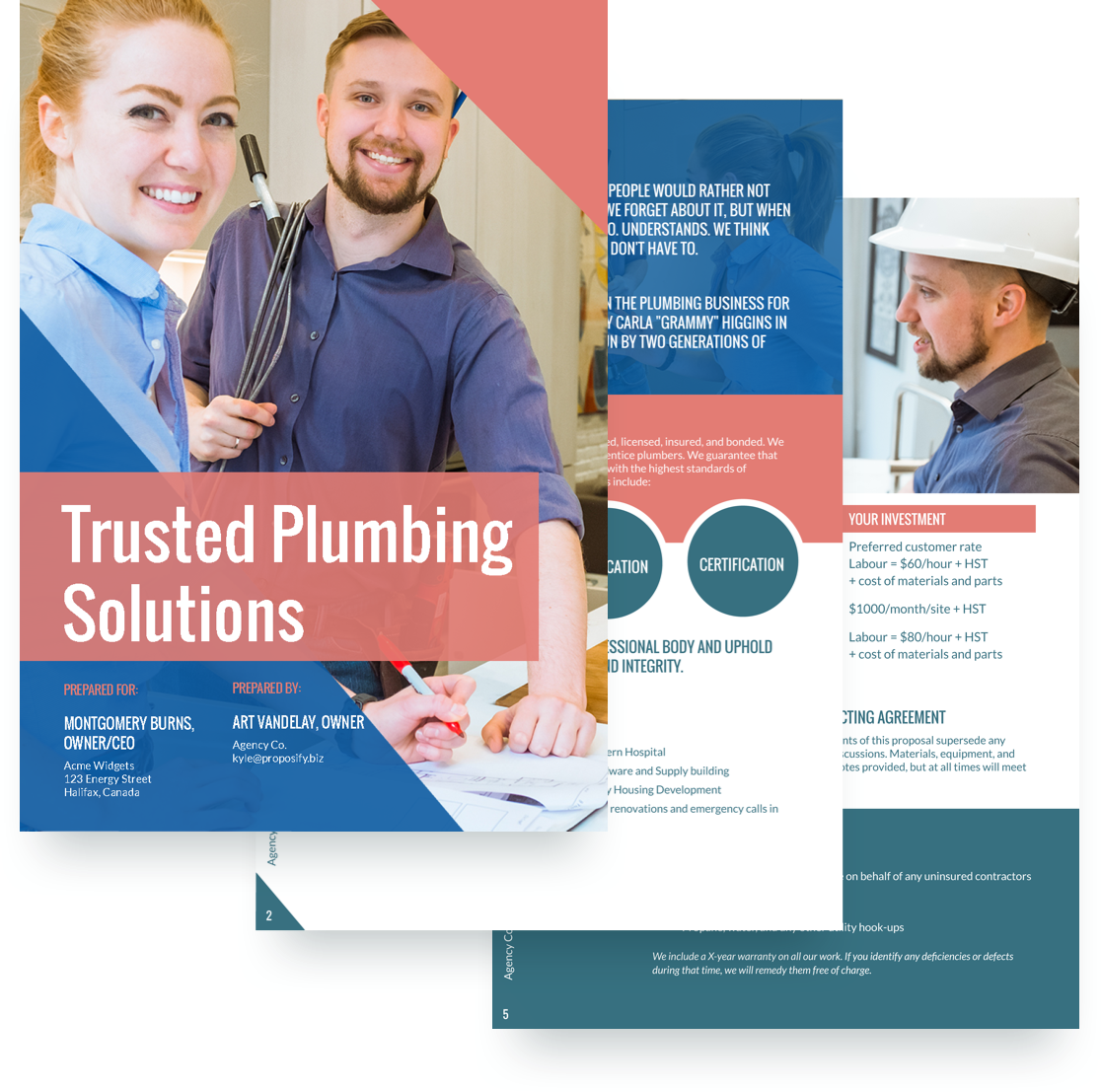 plumbing proposal template free sample proposify