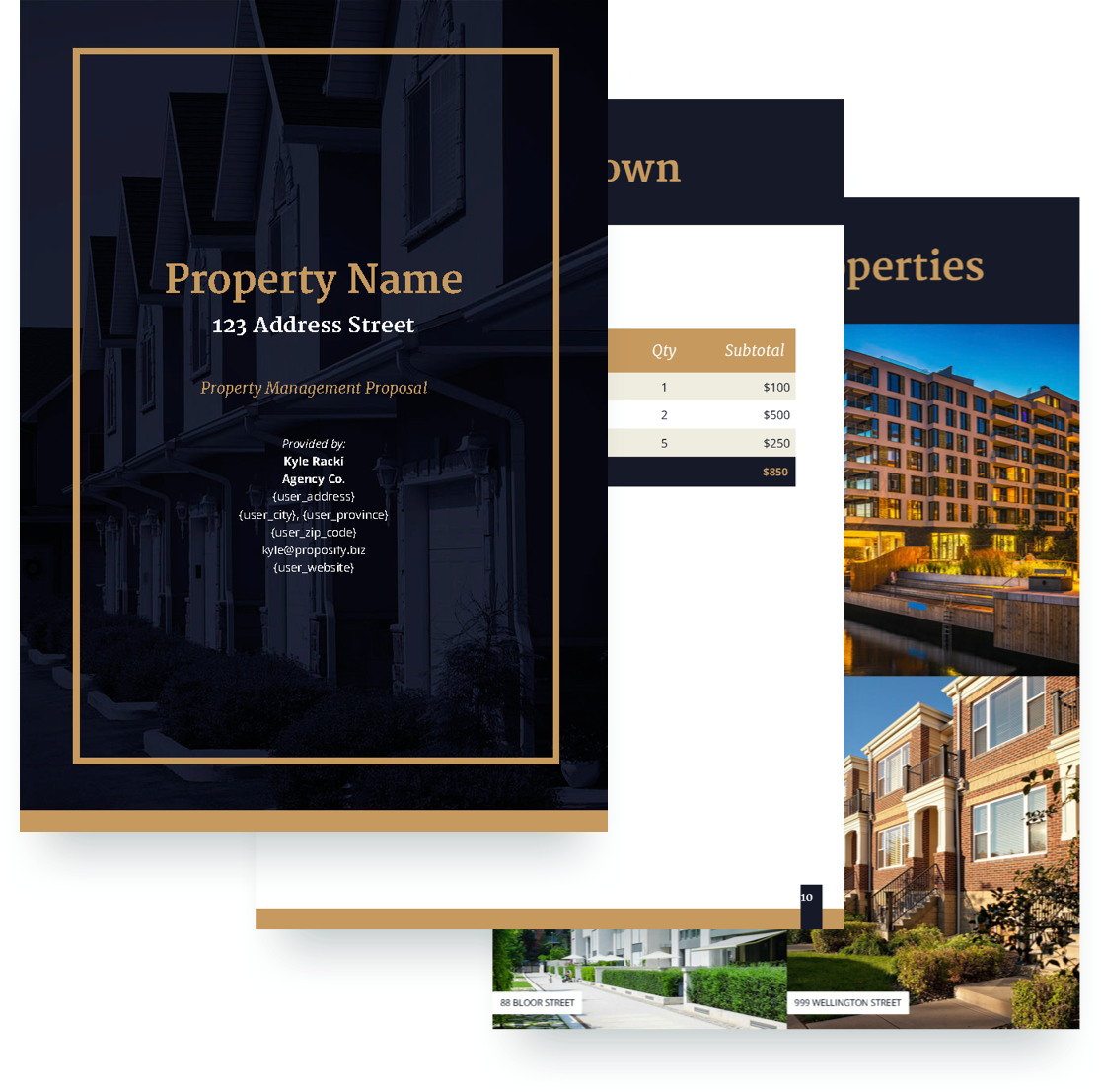 Property Management Proposal Template Free Sample