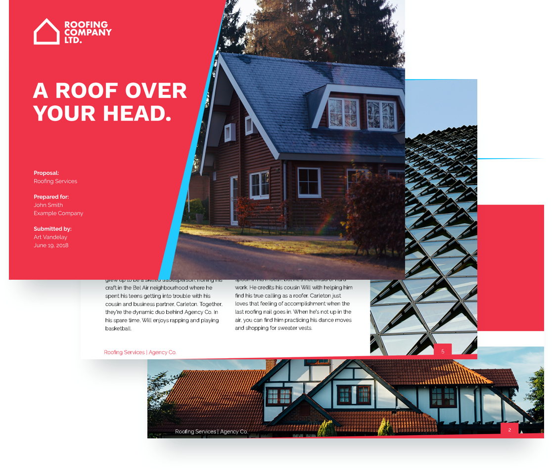 roofing proposal template proposify