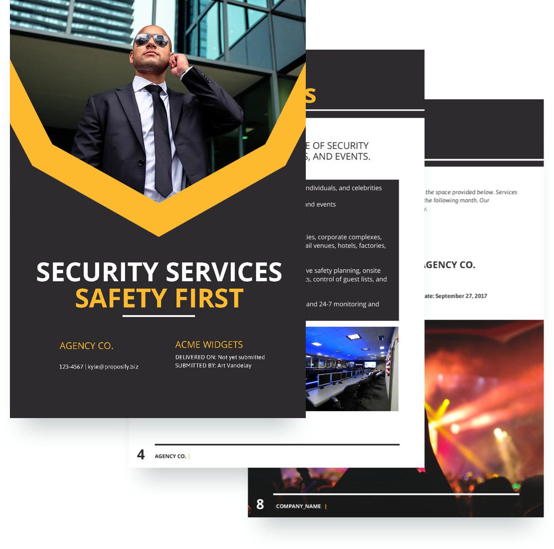 Security Proposal Template Free Sample Proposify