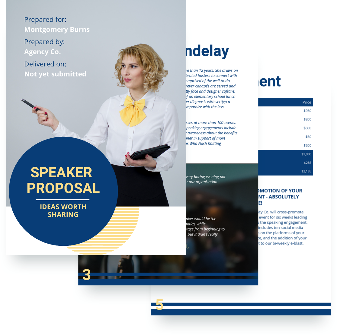 Speaker Proposal Template