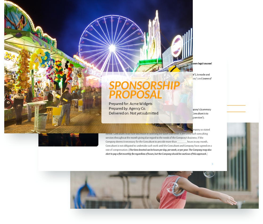 Sponsorship Proposal Template - Free Sample | Proposify