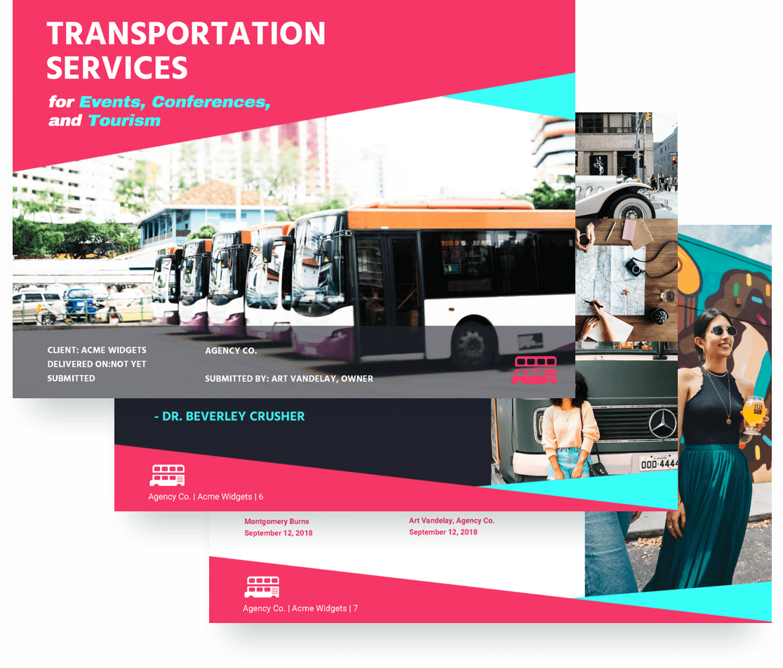 Transportation proposal template | Proposify